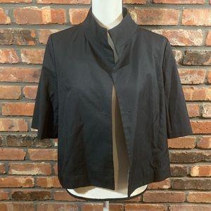 Uniqlo Cotton Blend 3/4 Sleeve Cropped Blazer
